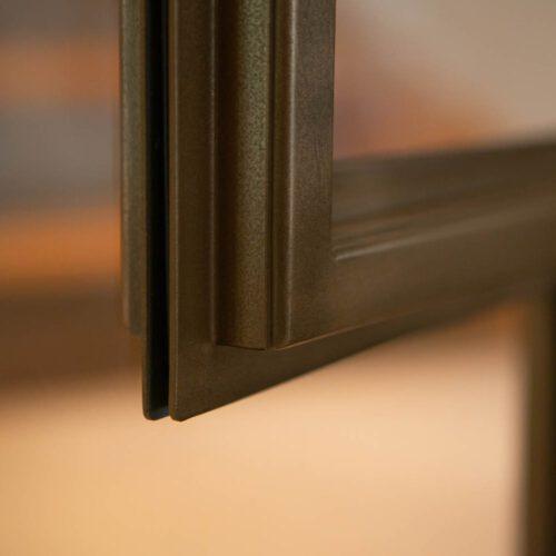 Bronzen profiel stalen deur