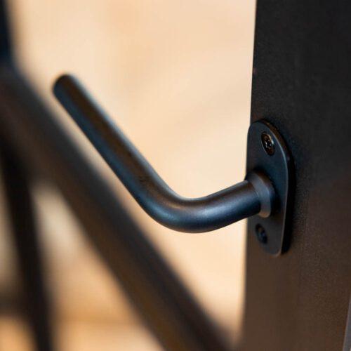 Details stalen deuren handgreep