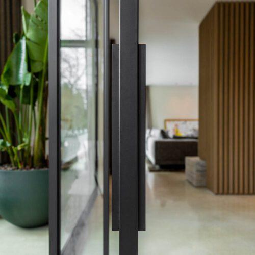 Stalen deur met pui woonkamer