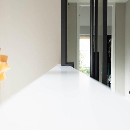 Stalen deuren in hal detail