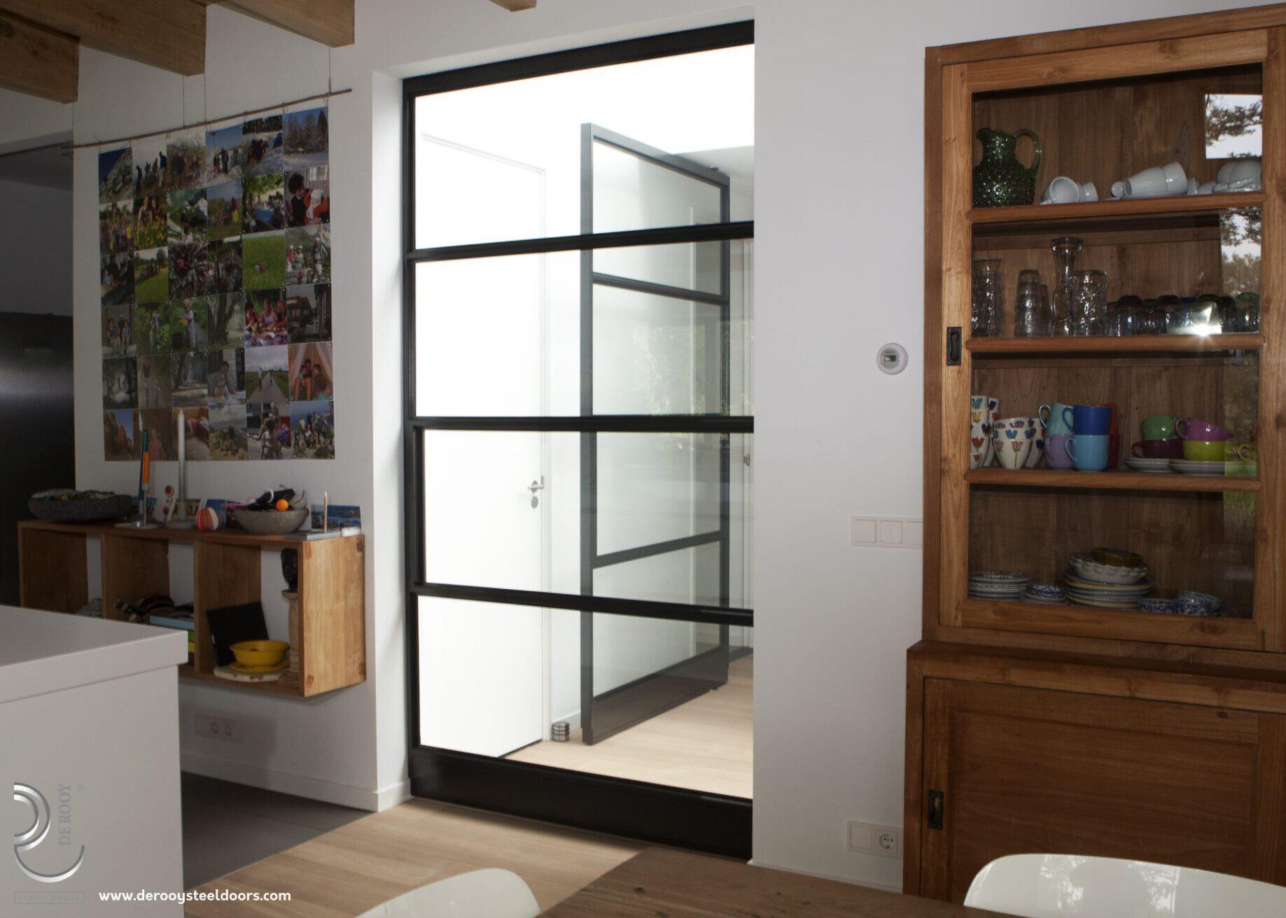 Stalen binnendeur in woonkamer Utrecht