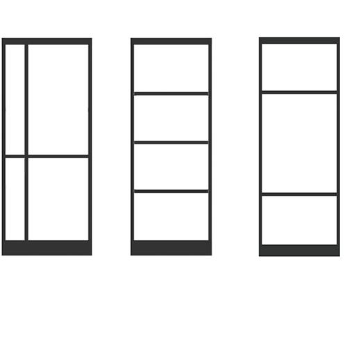 Vlakverdeling stalen deuren