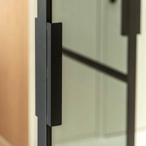 dubbele stalen deur handgreep