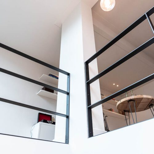 moderne stalen balustrade